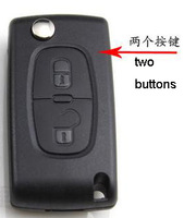 KL79 2 Buttons FOB Blank FLIP Remote Key Case For PEUGEOT Citroen BLADE WITHOUT LINE