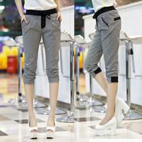 Women wear new  fat mm code leisure Haren seven trousers loose slim pants in summer