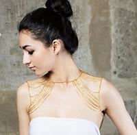 Sunshine jewelry store Fashion women sexy gold body chain Shoulder Chain