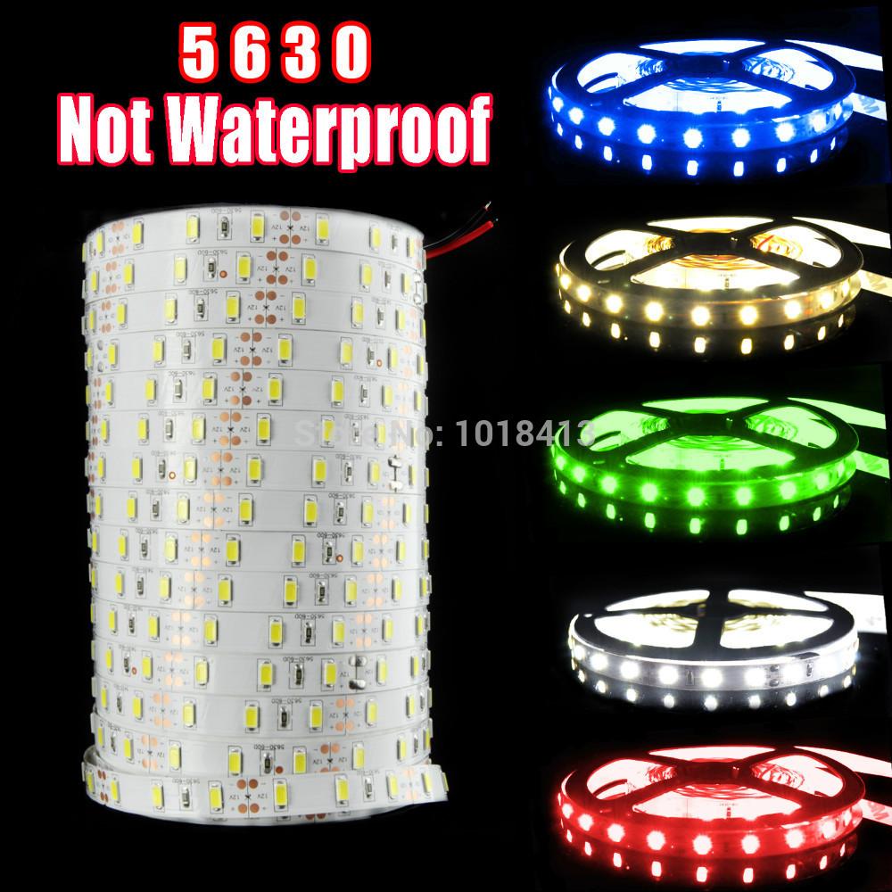 5630 SMD LED strip flexible light 12V 60LED/m 5m/lot Non-Waterproof New LED Chip 5630 Bright Than 5050,Super Bright(China (Mainland))