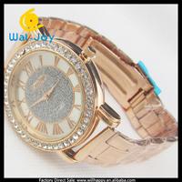 2014 new vogue smart popular gold metal ladies watch(WJ-1583)