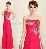 New Arrival Luxury High Quality Luxury Women Sexy Party Dress Sleeveless Strapless Toast Trumpet Mermaid Bra Dress Hot Pink