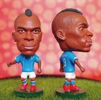 Italy national football team star doll & little figurine football player 9 # Mario Barwuah Balotelli