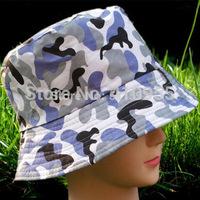 2014 New Fashion Womens Mens Unisex Outdoor summer travel Beach Sun Hat Camouflage Lattice Bucket hats Flat fishing Foldable cap