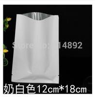 Wholesale Milk White 12cm*18cm    aluminum foil flat  pocket / mask bag / food bags/  vacuum bag