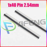 10pcs 40Pin 2.54 Single Row Pin Male Header Connector Strip for Arduino Prototype Shield DIY Free Shipping