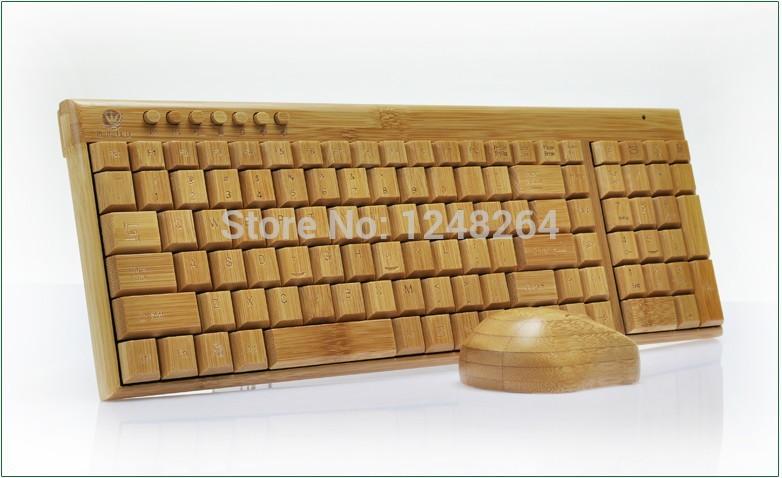 Wholesale Bamboo keyboard bamboo keyboard bamboo mouse wireless bamboo mouse and keyboard set(China (Mainland))