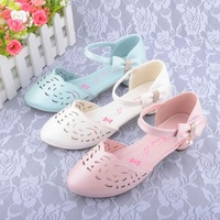 Children high-heeled sandals 2014 covering shoes toe cap princess girls single shoes dance shoes girls sandals