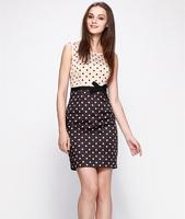 S-XXL Elegant Work Dress Women Lady Slim Polka Dot Casual Dress Office Career Dress 2014 New Fashion Summer Autumn C9ML156