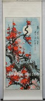 traditional Chinese painting,Canvas painting wall art of watercolor,have flower,plant,lanscape,animal ,EMS free shipping