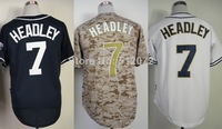 San Diego #7 Chase Headley Men's Authentic Cool Base Alternate Navy/Alternate Camo/Home White Baseball Jersey