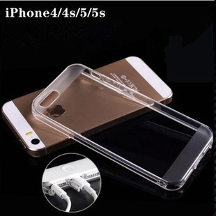 New Style Crystal Clear TPU Silicone Soft Cover Case for Apple iPhone 5 5g 5S For iphone 4/4s(China (Mainland))