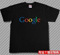 Free shipping red crown Google google big yards short sleeve cotton t-shirt creative personality