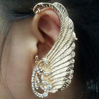 2014 New Fashion Rock Punk leaf shape Earring Clip On Stud Hanging Earring Fashion Ear Cuff Wholesale Sale