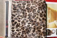 2014 new imitation animal fur leopard wallpaper pvc bedroom living room free shipping