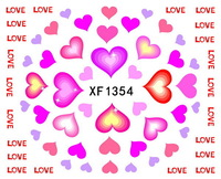 (12pcs/lot)2014 New arrival Water Transfers Flower,cat and heart designs(XF1354,XF1350 and XF1351) Nail Stickers Decals(NS51)