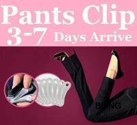 Retail Bag Pkg Free TNT Fedex Shipping 3200pcs/lot Removable Reused Pants Clips Snaps 5.5x1.5x0.4cmAs Seen On TV EU