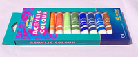 High Quality 12 colors acrylic paints tube set nail art painting drawing tool for the artists 12ML