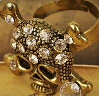 Rock and punk skull ring opening  10pcs/lot