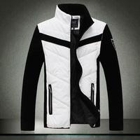 Free shipping 2014 new winter men's fashion men cotton jacket cotton jacket coat , jacket sleeves detachable two wear