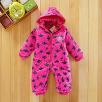 2014 new Babys winter rompers brand infant thick clothing baby  jumpsuit Newborn coveralls climbing  bebe rompers warm coats