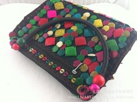 Free shipping natural coconut shell handbags , hand-woven bag