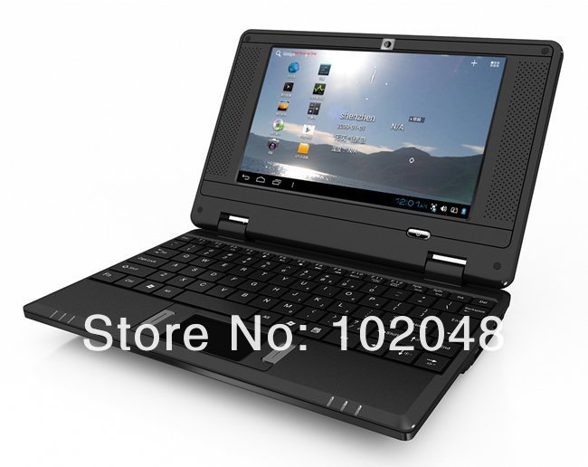 7 inch WM 8880 512MB DDR 4GB Android 4.1 0.3 Front Camera Minibook Mini Laptop Netbook Notebook Wifi Tablet PC(China (Mainland))