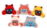 Free Shipping 2014 autumn and winter children's cartoon Owl Knitted warm ear baby hat knitted hat boy hat