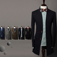 Hot-selling spring medium-long suit fashion unique paragraph men casual suit jacket 9033