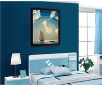 2014 new style digital painting by numbers handpainted canvas picture oil painting for living room home decor sailboat