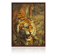 2014 new style digital painting by numbers handpainted canvas picture oil painting for living room home decor king of tiger