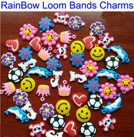 Hot 50PCS Hand-Knitted Bracelet Rubber Loom Bands Refills Charms Pendants For Kids DIY Loom Bracelets NWT