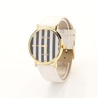 Koshi New Fashionstripe Leather GENEVA Watch For Ladies Women Dress Watch XR231
