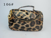 NEW Beautiful Leopard Makeup Cosmetic Container Pouch Handbag Holder Bag mix style