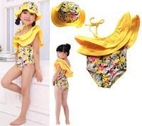 kid girls swimwear summer cotton one pieces or two pieces cute child bikini swimsuit,beautiful kids bathing suit , free shipping