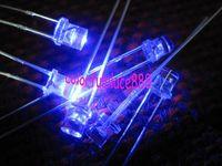 100pcs, 3mm Blue 5000mcd Flat Top LED Lamp Bright Leds Free Resistors for 9V ~ 12V DC
