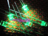 100pcs, 3mm Green 5000mcd Flat Top LED Lamp Bright Leds Free Resistors for 9V ~ 12V DC