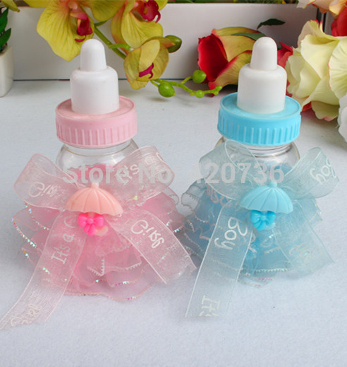 2014 souvenirs baby shower boy 12pc lot hot sale baby feeding bottle
