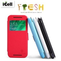 Original Nillkin Brand Fresh Series Ultra Thin Flip Leather Case For HTC One Mini 2 / M8 Mini ,+Retail MOQ:1PCS free shipping