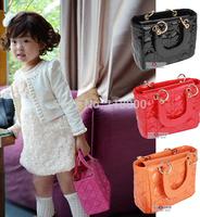 new arrival girls mini 5 candy color PU leather plaid designer totes women mini purse kids fashion handbag
