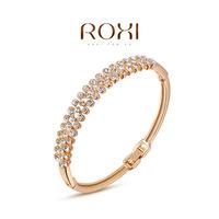 Roxi jewelry austria crystal rose gold three rows of  bracelet quality bracelet  2050014820A