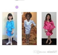Wholesale - Cheap Real Photos New Design 2pc Girls Kids Interview Skirt Suits Pageant Suits Custom Made Pageant Dresses