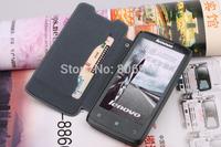 original genuine sheep skin PU leather case cover for lenovo A820 A820T mobile phone