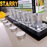 Fashion vintage mousse snowflake cup candle home decoration wedding decoration technology
