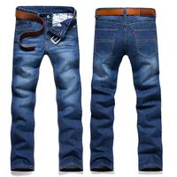 BIG SALE Hot!2014 Autumn Winter New Men Jeans Plus size 46 44 42,38 36 Fashion Straight Jeans Men Cheap High Quality 90OFF