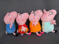 new 4 pieces baby kids peppa pig plush toys george pig dolls anime peppa pig toys peppa pig family