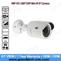GT View Original Gun Waterproof Security Network CCTV Camera 1MP IR IP Camera Mini Support POE. GT-716P