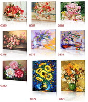 New style digital painting by numbers handpainted canvas picture oil painting for living room  flower 17 style to choose