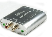 Free shipping NEW MUSE Mini 24Bit 192Khz Coaxial Optical USB Input DAC Headphone Out silver color