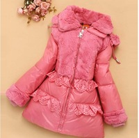 2014 brand white duck Thickening of the long warm children outerwear Girls down jacket winter jacket coat girls A1218